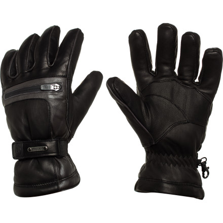 Ski Whether you find yourself stuck momentarily on a chairlift in the middle of a snow storm or braving icy morning temperatures, rely on the Grandoe Men's Myth Glove to protect your upper extremities. Equipped with a waterproof breathable Dri-Gard insert and ThermaDry insulation, the Myth protects and warms your hand in gnarly winter weather while you ski or sled. And you can count on the stash pocket to hold your heater pack on single-digit days for extra warmth. - $77.97