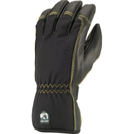 Ski Hard days in the backcountry require heavy-duty gear that you can absolutely rely on. The Hestra Soft Shell Short Glove uses very breathable fabric on the backhand to keep your hands from overheating as you hike, and ultra-durable goat leather up front to handle the heavy stuff. A waterproof insert sees to it that water doesnt find its way in, and Thermolite insulation holds the heat when the mercury takes a dive for the worse. - $71.47
