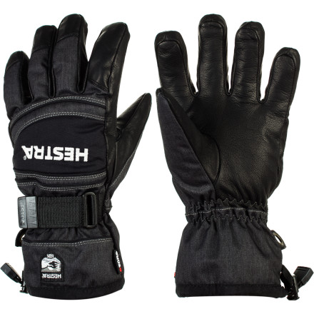 Ski Leather and twill are better when together, especially in the burly Hestra Czone Mountain Glove. Add a waterproof membrane and fiberfill insulation, and you have a glove that performs like mad and looks great doing it. It might be hard to concentrate on your line, though, with all that leathery, twilly goodness at hand. - $129.95