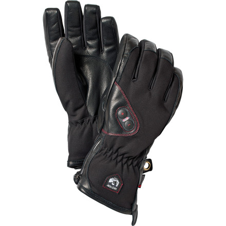 Ski The Hestra Power Heater Glove gets part of its brawn from battery-powered integrated heat loops. Keep warm and control the temp with a three-setting adjustment, and take this gem of a glove wherever you roam, even in Rome, with its travel case and international travel adapter. Summit those faraway peaks, and keep those fingers attached. - $379.95