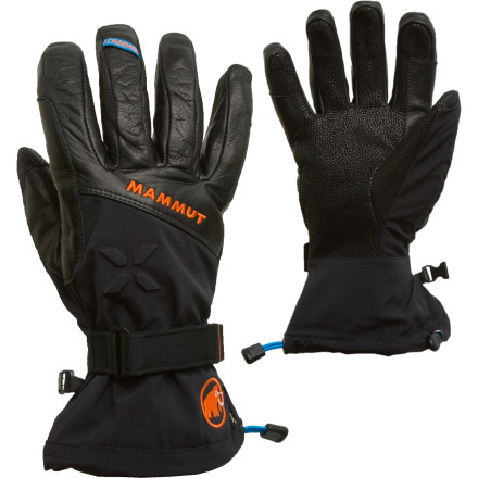 Ski Release your inner snow pirate when you pillage powder in the Mammut Nordwand Glove. The polyester shell complement rugged leather palm for an optimal blend of durability and dexterity. Mammut built the Nordwand with Gore-Tex Pro Shell membrane to ensure breathability and protection from moisture, so you don't have to thaw ice off your fingers back at the lodge. - $179.95