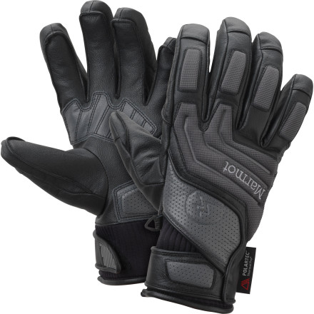 Ski Favored by Marmot's freeride ski team, the Armageddon Undercuff Glove offers weatherproof protection, foam padding for impacts, and warmth even in brutally-cold weather. A slim cut helps the cuff of your jacket slide over the wrist closure of this glove so you get the most low-profile fit possible. Rather than pulling a gauntlet-style mitt all the way up to your elbows, go with something a little more low-key when you're ripping cliff laps inbounds. - $104.97