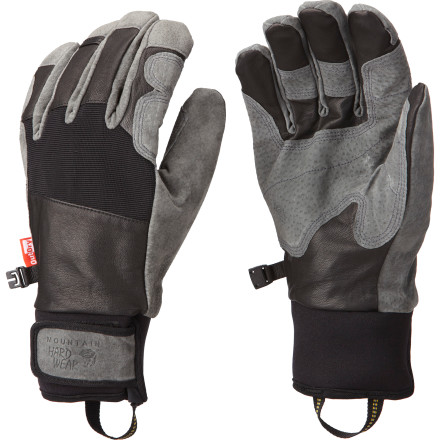 Ski The Mountain Hardwear Pistolero Glove is more at home in the backcountry than you are. Ultra-tough leather construction can take a beating in the great outdoors and survive to see another tour. The OutDry waterproof breathable laminate gets the added support of Q.Shield DWR to make water just roll right off, and the soft fleece lining feels good against your skin. Mountain Hardwear calls this a work glove, but it's all about play in the backcountry. - $74.72