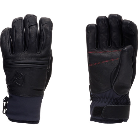 Ski The Norrna Rldal Dri Insulated Short Leather Glove ensures your hand stays in a blissful, warm state while you ski nonstop top-to-bottom runs, catch an outdoor hockey game, or snowshoe. Its waterproof breathable Dri1 insert protects your hand from the wet, snowy elements, while the PrimaLoft insulation provides exceptional warmth. Leather stretch around the knuckles allows for a firm grip around your ski poles and enables you to form the perfect snowball. - $108.90