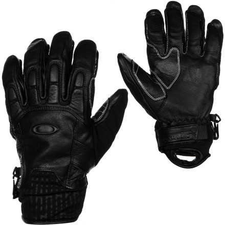 Ski Designed for brutal weather in big terrain, the Oakley No Exit Glove won't let you down when the only direction is forward. A guaranteed waterproof breathable Gore-Tex membrane keeps your hand dry and comfortable and genuine Pittards waterproof leather stands up to all the abuse you can dish out at any altitude in any weather. - $130.00