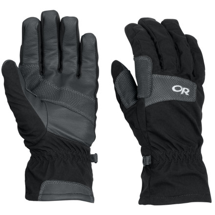 Ski If you'd rather not let the cold get in the way of your high-output aerobic activities like cross country skiing and snowshoeing, don the Outdoor Research Vert Gloves. A soft tricot lining manages moisture and adds comfort, while a softshell body maintains dexterity. Leather palms offer durability and grip on your ski poles. - $48.95