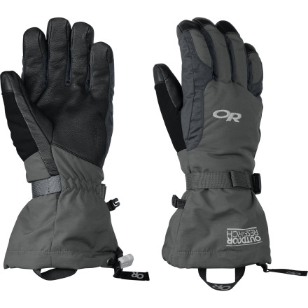 Ski The Outdoor Research Men's Ambit Glove equips your hands with the weather protection it needs when exploring the back or slackcountry. A waterproof, breathable Ventia Dry membrane blocks out the elements, while its TouchTec technology allows you to take memorable photos on your phone. - $34.63