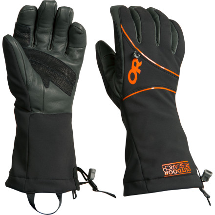 Ski After extensive testing and feedback from Outdoor Research athletes, the softshell Men's Luminary Glove came to light. Made from WindStopper Soft Shell material, the Luminary protects in tough winter conditions and provides the high level of dexterity bold alpine climbers require. Purposely designed without a waterproof membrane for ultra-quick drying and maximum breathability, this glove can literally dry while you're wearing it. - $98.95