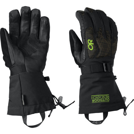 Ski You relish backcountry powder and downhill days, so you  demand a glove that performs at the same level you do. Outdoor Research beefed up the Remote Glove with PrimaLoft insulation to push back against freezing temperatures and a Gore-Tex insert to make sure water can't get in. This glove creates a warm and dry protective environment even when the weather gets brutal. - $95.37