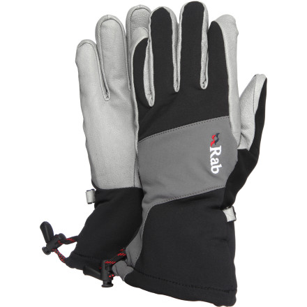 Ski Unlike your touring buddy who's desperately trying to get his fingers someplace warm, your hands are wickedly comfortable thanks to the RAB Back Country Glove. Its modular softshell fabric allows your digits to breathe easily while you bootpack, skin, or dig a pit. - $79.95