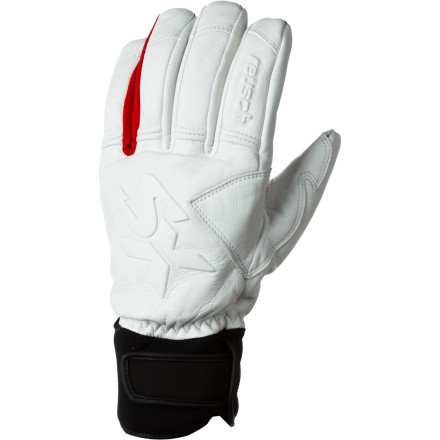 Ski Before a day of trenching out fresh groomers at mach speed, pull on the sport fit Reusch Sasuka Glove. Full goatskin construction gives you total dexterity, a sure grip, and reliable protection in winter weather while Primaloft insulation keep fingers comfy and warm. - $95.97