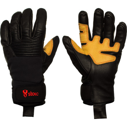 Ski The rough-and-tumble of an active winter are no match for the Stoic Paragon Glove. Goat skin leather protects your fingers from the elements, palm reinforcements give you extra grip on your pole, and a warm, wool lining takes the bite out of cold temperatures. Whether you're building a jump, digging a pit, or bushwhacking your way to a new line, this is a workhorse glove that'll take it all for years to come. - $47.40
