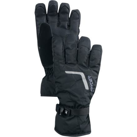 Ski The Spyder Traverse Gore-Tex Glove has the skier's essentials: Gore-Tex weather protection, insulation, articulated fit, wicking liner, and snot-wiper. All that's missing is the snow. - $42.22