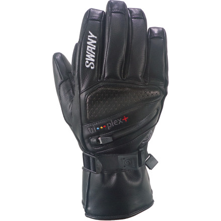 Ski The burly leather Men's X-Clusive II Glove from Swany is built for top-tier performance whether you're skinning up backcountry ridge lines or hopping on the tram. A combination of three different weights of Primaloft insulation keeps your hands warm while the Dyna-Therm liner wicks away moisture to keep the inside of your glove from feeling like a swamp. When the storm front rolls in, slip a hand-warmer in the designated pocket, clean your goggles with the wiper, and enjoy exclusive powder runs after everyone else has run to the lodge. - $133.95