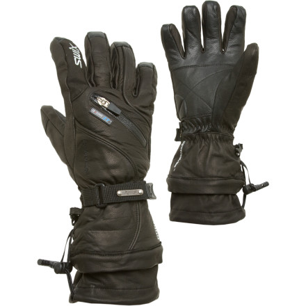 Ski Load up on luxury when you slide your fingers into the Swix Men's Sovereign Leather Glove. Built with a waterproof breathable Gore-Tex membrane and an ultra-smooth leather shell, the Sovereign dials in a classic look that can stand up to cold days and season after season of aggressive lines. - $149.95