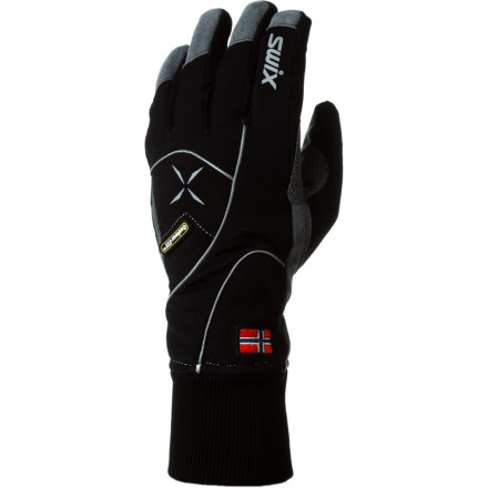 Ski Popsicle fingers can cut short a hard-charging day when the temps drop, hence the Swix Men's Star XC 100 Glove's cozy Primaloft insulation. Wrapped in impact-protected Lycra in a contour-fit structure, this glove is still rugged and light. And its super breathability and synthetic leather palm give you dry comfort and good grip. - $44.95