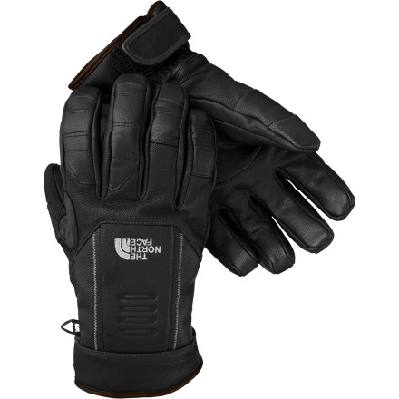 Ski From ski season to fence-mendin' season, The North Face Hoback Insulated Glove is one tough hombre that knows how to get the job done right. Built with durable goat leather and Heatseeker insulation, this glove protects your digits from damage when you're hammering out turns at the resort or hammering up boards in the pen. A water-resistant coating keeps wet snow from soaking in, and 2mm of insulator foam on the palms add padding and seal in warmth. - $71.47