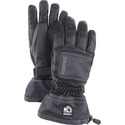 Ski Experience and premium materials make the difference in a ski glove. For the last 75 years Hestra has been making quality products like the Women's Full Leather Czone Powder Glove so you can be sure to have dry, comfortable fingers for several winters to come. Made with mostly cowhide leather, this glove stands up to tree whacks, ski edges, boot buckles, and any other snowy application. The Czone waterproof breathable membrane prevents moisture and frozen fingers by locking out melting snow and expelling interior water vapors. - $89.96