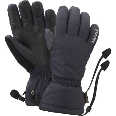 Ski Heavy snow, light flurries, or even (horrors) snow mixed with rainno matter what's coming out of the sky, the Gore-Tex insert in the Marmot Women's Flurry Glove keeps it out. And for those frigid bluebird days, count on the Thermal R insulation and cozy high-loft fleece lining to keep your digits happy as you lap the chairlift. - $63.71