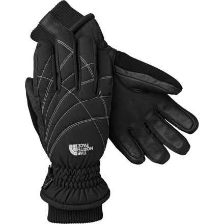 Ski Slide your hand into the North Face Women's Purr Fect Glove and let it sweep you off your feet with its Heatseeker insulation that keeps the tips of your fingers to your palms toasty and comfy. The waterproof breathable HyVent fabric combats the elements, so you won't have to run into the warming hut to dry your gloves underneath the hand dryer. An articulated molded fit gives your hands dexterity to hold your ski poles or make a snowball. Rib-knit cuffs slide underneath your jacket sleeves for a seamless barrier in deep powder, and you can use the soft thumb chamude nose wipe to wipe off any unwanted snotties. - $47.97
