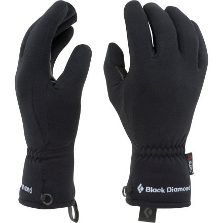 As a show of superiority over other glove liners, the Black Diamond Midweight Glove Liners rock a goat-leather palm for extra durability. Wear these midweight liners alone when you head out for a chilly fun in the fall, or use them as stretchy insulator gloves for extra warmth under shell gloves during the winter. - $29.95