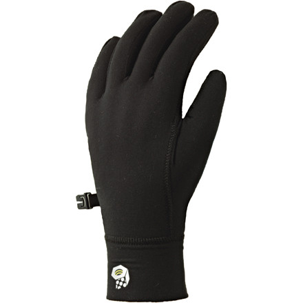 Fitness The Mountain Hardwear Butter Glove Liners work as a great pair of running gloves or as a super liner under ski gloves. The Butter's polyester fabric draws moisture away from your skin while trapping body heat for extra warmth. So when your runs get sweaty you stay dry, but when the temps drop your hands won't go numb. The flatlock seam construction makes for a smooth, tight fit for wear under another glove. And the stretch cuff bunches comfortably on your wrist, locking out unwanted cold breezes. - $26.95