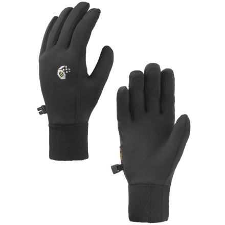 Ski Pull on the Mountain Hardwear Womens Power Stretch Glove for any cool weather pursuit and get the comfort and performance of Polartec Power Stretch fleece. This lightweight glove works alone on chilly trail runs or backpacking trips, and makes a great liner glove for mountaineering expeditions or cold ski days. Seamless fingers add comfort and mobility, while the close fit doesnt interfere when you need full dexterity. - $17.97
