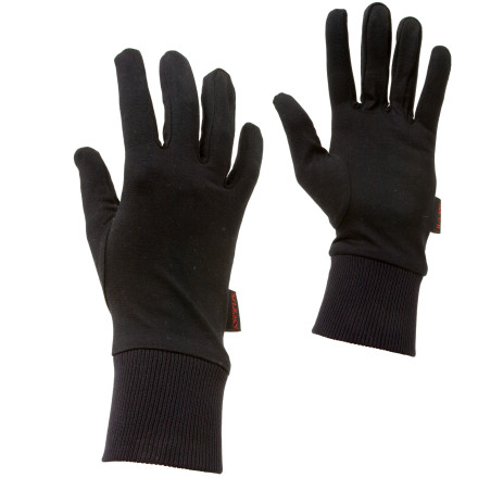 Ski Wear the Seirus Arctic Silk Glove Liners under your ski gloves for increased warmth, or use them on spring or fall backpacking trips to keep your hands warm on crisp mornings. The Arctic Silk Glove Liner's material wicks sweat and slide easily into your outer gloves. The thickness of the silk and form-fitting construction make this liner ideal for adding a bit of warmth and luxuriousness when skiing, hiking, or climbing. - $16.96
