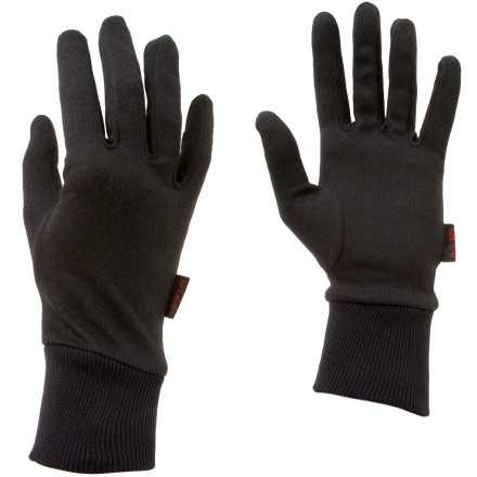 Ski Wear the Seirus Deluxe Thermax Glove Liners under your ski shell gloves on frigid days, and sport these comfy liners on their own for trips into town. The wicking fabric keeps your hands from becoming sweat-balls on the slopes, and the form-fitting construction minimizes bulk. The Deluxe Thermax Liners come in handy on sunny backcountry trips when an insulated glove is too hot. - $9.95