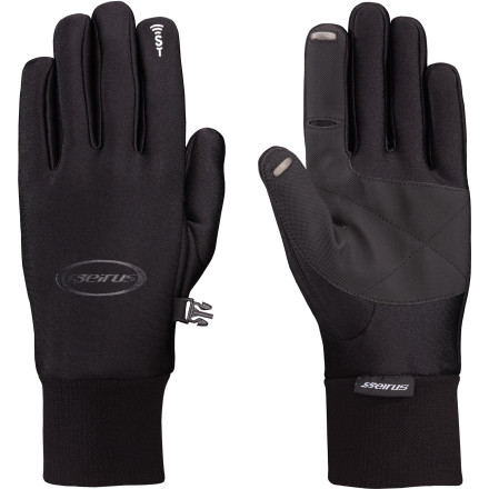 The Seirus Men's SoundTouch All Weather Glove provides light insulation in cold weather and it allows you to use your touchscreen phone or MP3 player without removing your glove. This glove is slim, highly flexible, and fleece-lined, which makes it ideal as a primary layer in mild weather and a liner glove in particularly cold conditions. - $44.95