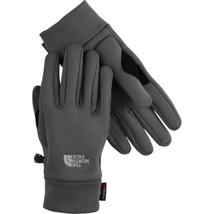 Gear up for all your winter pursuits with The North Face Men's Power Stretch Glove. Hand-hugging Polatec Power Stretch traps heat and provides protection from wind, while still breathing and wicking for comfort in high-energy activities. This versatile glove features a reinforced patch at the inner thumb that makes it ideal for gripping cross-country or snowshoeing poles, while its snug fit allows you to easily layer a shell glove over it for your alpine adventures. The North Face has redesigned the fit of the Power Stretch Glove with Radiometric articulation, which mirrors the relaxed position of the hand to improve warmth by allowing optimal blood flow to the fingers. - $20.97
