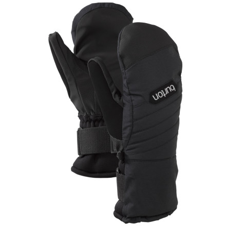 Snowboard The Burton Women's Support Mitt has your backor, actually, your handwhen it comes to warmth and weather protection. These mittens have a removable insert that acts like a wrist brace as well as a waterproof breathable insert. - $44.94