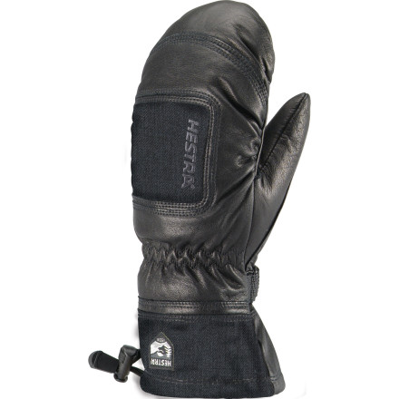 The Hestra Women's Full-Leather Czone Powder Mitt keeps your fingers dry and toasty while you snorkel through waves of fluff. - $77.97