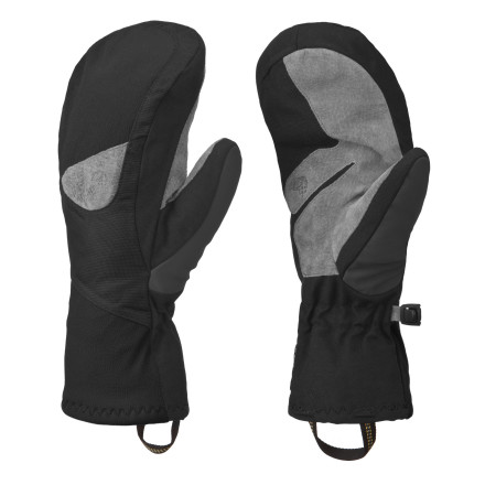 Ski Your digits like each others' company during cold days on the mountainpull on your Mountain Hardwear Women's Asteria Mitts, and let pinky hang in the same space with ring finger. These waterproof breathable mitts have durable leather palms for a solid grip on your skis and a snug, flexible fit to help maintain dexterity. - $74.95
