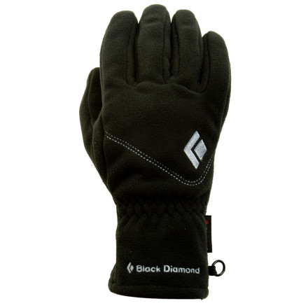 Entertainment Black Diamond made the Women's WindWeight Glove to be worn on its own or as a liner with one of their hardshell mitts or gloves in more extreme conditions. The Women's Windweight features a snug, women's specific fit for maximum dexterity, a Pittards suede leather palm patch for grip and durability, and silicon-dotted fingertips to improve tactility. A Polartec Winbloc barrier keeps your hands warm when things get blustery. - $43.95