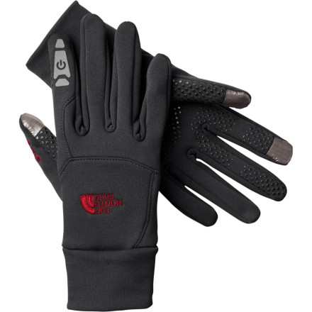 Tired of trying to operate the click wheel on your music player with bulky gloves' Can't seem to dial the right number on your phone when the temperature drops' Grab a pair of The North Face Etip Gloves and say goodbye to your lame-finger syndrome. The North Face constructed this three-season glove with X-Static fabric to lock in warmth without limiting your most useful appendage's fine motor skills. - $44.95