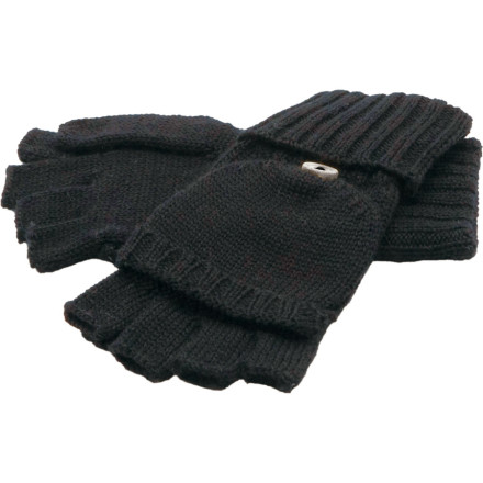 The wool-blend Coal Cameron Glove converts from a warm mitten to a toasty fingerless glove so you can shovel the deck, then easily grab your car keys without ever exposing your digits to the cold. What more could you ask from a versatile hand-knit glove that looks as good with your wool peacoat as it does with your waterproof outerwear. - $14.97