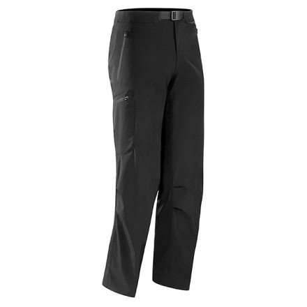 Climbing Arc'teryx designed the Men's Gamma LT Softshell Pant for maximum mobility and breathability while hiking, backpacking, and climbing. With four-way stretch and an articulated construction, the Gamma LT Pant gives you full mobility while resisting wind and light moisture in alpine conditions. A soft, chamois-lined waistband and gusseted crotch provide the utmost comfort with or without a harness. - $168.95