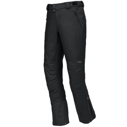 Climbing With a specific tapered fit, scuff guards, and the ultimate in weather protection, the Outdoor Research Alibi Softshell Pant will be your go-to ice-climbing pant. - $194.95