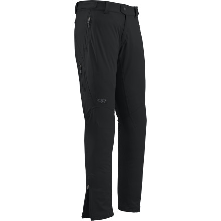 Outdoor Research outfitted the Salvo Softshell Pants with Gore WindStopper tech to protect you from snow and biting winds while you're giving your all during a summit attack or grueling tour. Plus, these action-oriented softshell pants help hot air and water vapor escape so you won't end up sweat-soaked and clammy when you reach the top after a hard push. - $125.92
