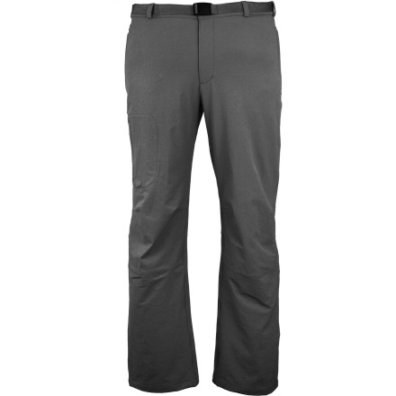 Climbing Your morning hike has turned into a morning shower as a gray drizzle comes down, but you're staying dry in your Rab Treklite Softshell Pants. Your buddies (the ones who thought they could get by in standard hiking pants) will be well soaked before you feel a drop. - $54.97