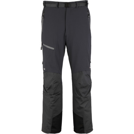 For those backcountry tours and multi-day mountaineering adventures that require more stretch and breathability, there's the Rab Men's Fusion Softshell Pant. But, Rab designers didn't sacrifice your comfort and protection to give you more mobility and versatility. In fact, Polartec NeoShell in the seat, knees, and rear with an additional layer of softshell on the thighs and back of legs offer some of the best protection possible ... short of wearing stuffy, unbreathable pants. - $146.22