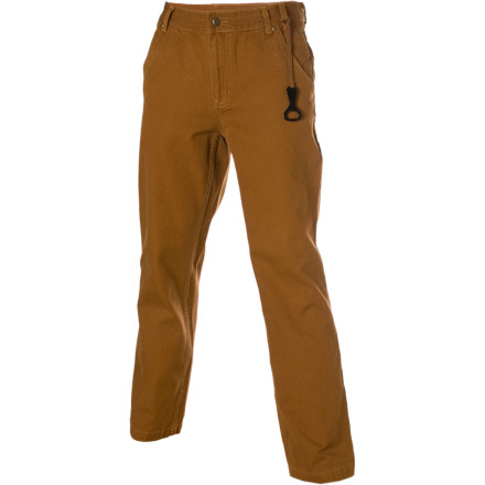 Get more pep in your step with the comfortable stone-washed Force 10 canvas material of the Kavu Men's Mojo Pant. Mojo doesn't just happen; Kavu puts these pants through rigorous bio-enzyme and stone washing for that great ready-to-wear look. When you wear these pants, rivets at all stress points and durable stitching can handle the effects of your radical burst of energy. Now calm down; the fitted waistband sits on your hips comfortably, and an external hidden stash side pocket keeps your keys from getting lost during a Mojo outburst. - $38.47