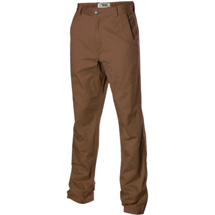 Ski Forget what you think you know about tan pants and get in to the Mountain Khakis Men's Teton Twill. Inspired and designed by and for day- to- day life in Jackson Hole, Wyoming, these durable pants will change your mind about khakis. The Teton Twill isn't made for the sidelines of a tennis court but for those that put themselves and their clothing to the test of every day mountain living. Walking the dogs down a gravel road in the morning, push starting the ancient pickup and leading the pack at work all day takes a pant that transcends the gap of business casual to work wear. Their custom fabric is made from double-plied cotton thread for long-lasting durability and a smooth drape. Taking triple-needle stitching and metal hardware from their work pants, Mountain Khakis makes the toughest twill to be found on hill or dale. - $82.95