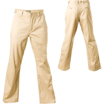 The Mountain Khakis Lake Lodge Twill Pant features a cotton/spandex blend for breathability and an unlimited range of motion. A generous cut adds to the already pajama-pants comfort. - $89.95