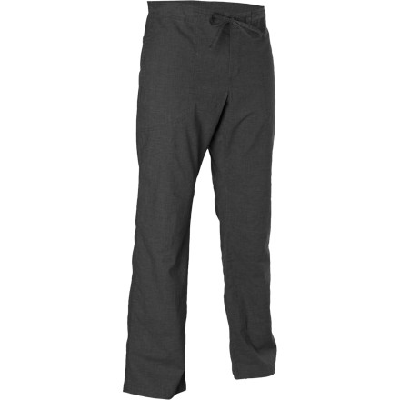 Fitness The prAna Men's Sutra Pant is great for folks who put themselves into crazy contorted positions, like climbers and yoga-types. The extra-wide thigh area allows a huge range of motion, and the hemp and PET fabric give the Sutra copious quantities of breathability. - $69.95