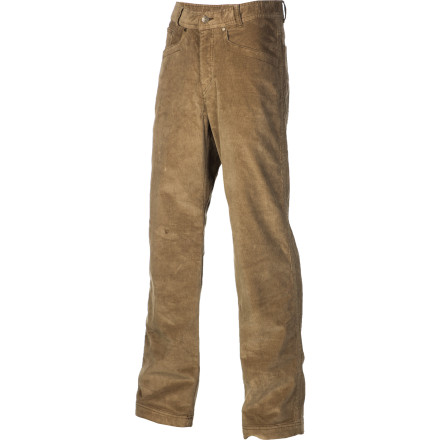 Entertainment Pull on the Royal Robbins Men's Hi-Living Cord Pant for a level of style and comfort that is requisite for living the good life. Canyon Cord cotton is washed for a super-soft feel, and a bit of spandex allows the pant to stretch for utmost comfort. Details like cross-grain stitching on the back pockets and durability-enhancing logo rivets provide style for everything from stream-side trails to city streets. - $54.57