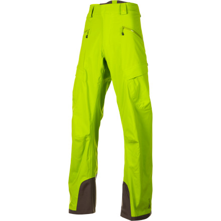 Ski The Mammut Men's Stoney Pant gives hard-charging freeriders everything they need in a ski pant without the added complication of unnecessary bells and whistles. DRYtech Premium Stretch fabric shrugs off tough winter weather and the interior mesh lining provides comfort and warmth. The side zips allow you to dump excess heat when you're hiking for turns and they make getting in and out of the pants a simple operation. - $278.95
