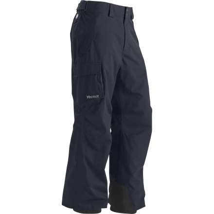 Ski Marmot made the Men's Motion Cord Pant out of a richly textured Bedford cord nylon for a classy look, but didn't forget to include a Membrain laminate for waterproof breathable protection. Ideal for long days exploring the resort top to bottom, this two-layer shell pant is fully seam taped for all-weather suitability. - $109.97
