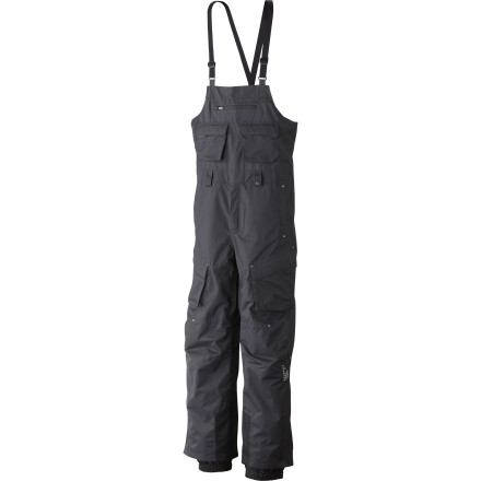 Ski Think a bib pant is just for the kids' The Men's Freeride Bib Pant with its waterproof breathable fabric and laid-back, relaxed fit will change your mind. Durable Dry.Q fabric fends off the gnarly bushwhack to your backcountry powder cache, thigh vents cool you down after a hot bootpack to the ridge, and the fully adjustable bib straps give this pant a fit that's so comfortable you'll ponder how you lived through a winter wearing anything else. We ditched our belt loops for suspenders long ago and never looked backjoin the fun. - $299.95